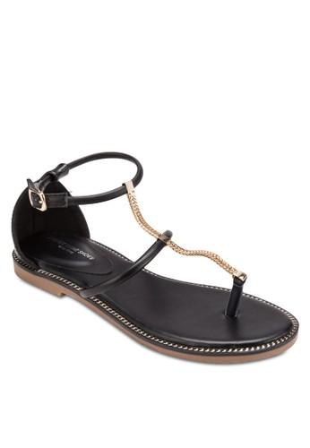 鏈飾夾腳esprit 台灣官網平底涼鞋, 女鞋, 涼鞋