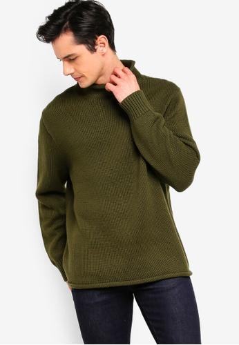 J.Crew 綠色 經典高領針織衫 49817AAD5BEB71GS_1