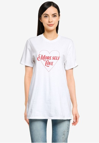 MISSGUIDED white More Self Love Short Sleeve Tee 76702AA22F5830GS_1