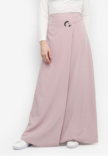 Zalia pink Eyelet Wrap Skirt 24117AA3B1B5C7GS_1