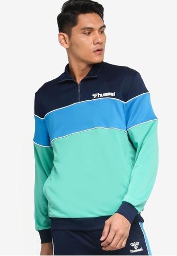 Hummel green Hummel Liam Half Zip Sweatshirt 0F59AAA34451B0GS_1
