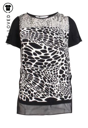 Diane Von Furstenberg black Pre-Loved diane von furstenberg Printed Silk T Shirt 3F6D8AA6D88CBFGS_1