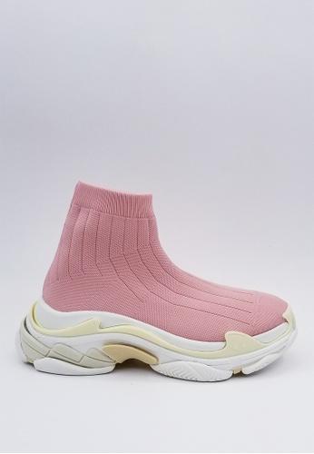 HERME MONY pink Japanese Thick Bottom Socks Casual Shoes 56E96SHDEA0BD1GS_1