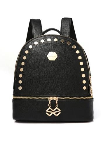 TCWK black Ladies Backpack TC258AC62LGZMY_1