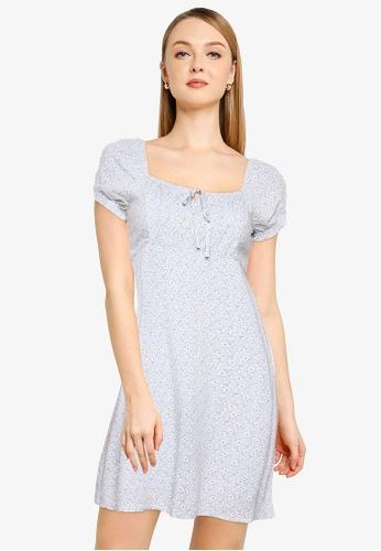 Hollister blue Babydoll Dress D2B78AA7DD92D3GS_1