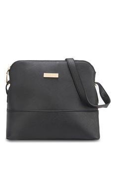 Unisa Saffiano Texture Shell Shape Mini Sling Bag