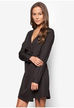 Wrap Front D-Ring Shirt Dress