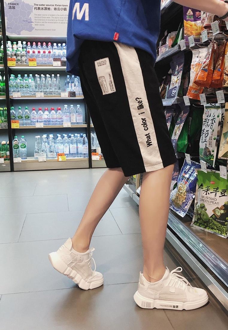 Embroidery Rise ehunter hk Mid black Shorts Men gSwaHpqw
