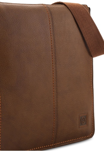 Volkswagen brown Volkswagen Genuine Leather Sling Bag VO089AC40EIDMY_1