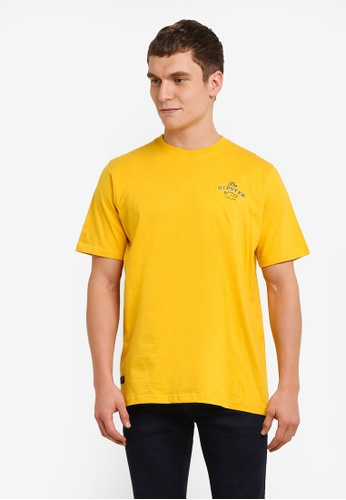 Private Stitch yellow T-Shirts with Moustache Embroidery PR777AA0S8QPMY_1
