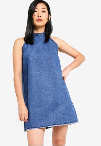 Something Borrowed blue Frayed Hem Shift Denim Dress 170DBAABF1E87BGS_1