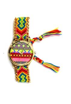 Ethnic Pattern-G Crochet Strap Watch 007