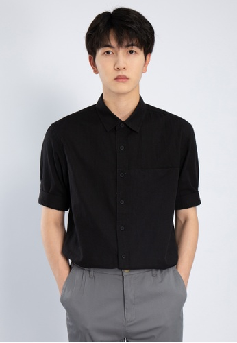 HAPPY FRIDAYS Simple Short Sleeve Casual Shirts AP2152 D4147AA1F9136FGS_1