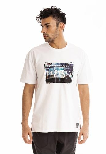RYZ white RYZ Crosswalk Graphic Print White Short Sleeve T-Shirt. 7A62DAABCB1EECGS_1