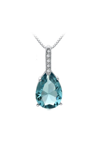 LYCKA blue and silver LPP88136 S925 Silver Necklace 71B71AC85CC83DGS_1
