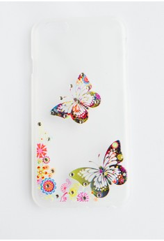 Butterflies with Bling Hard Transparent Case for iPhone 6/6s