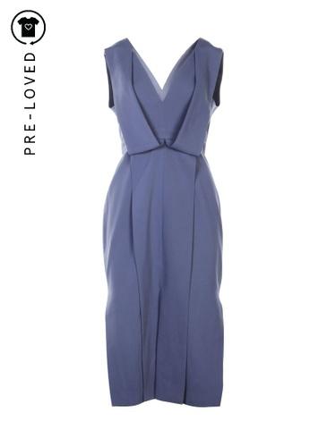 Keepsake blue Pre-Loved keepsake Deep V Neck Dress CABADAA66EB5D1GS_1