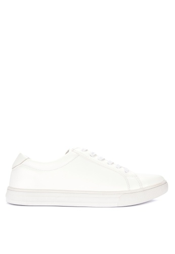 BENCH white Solid Tone Lace Up Sneakers A7512SH95726D7GS_1