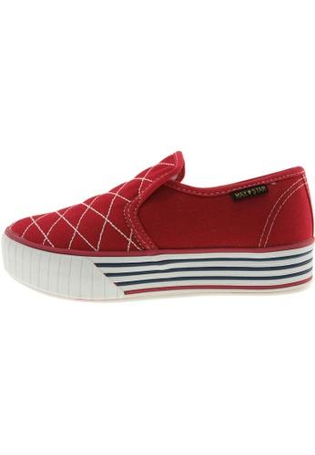 Maxstar Maxstar Women's C30 Stitched Platform Canvas Slip On Shoes US Women Size MA168SH42CARHK_1