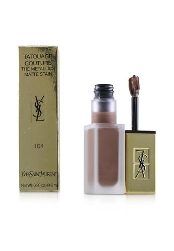 Yves Saint Laurent YVES SAINT LAURENT - Tatouage Couture The Metallics - # 104 Rose Gold Riot 6ml/0.2oz E966EBEB2EAC9AGS_1