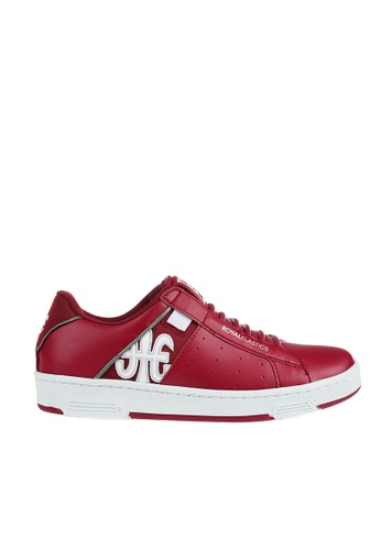 Royal Elastics red Icon Leather Sneakers RO796SH2UYKMHK_1