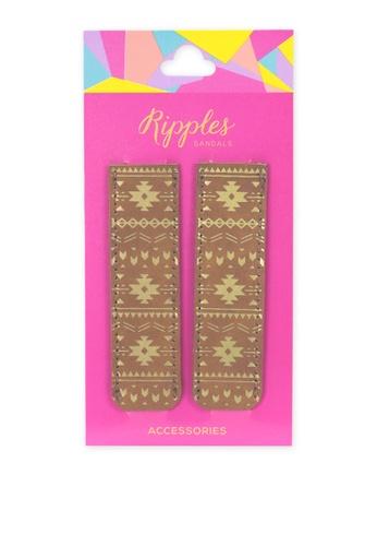Ripples brown Slide'N'Style Sandal Sleeve Accessories RI425SH03UYUSG_1