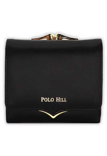 Polo Hill black Polo Hill Ladies Compact Clasp Short Wallet 55E42AC17BABABGS_1