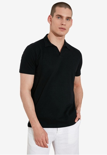 Trendyol black Essential Polo Shirt 28C4BAA7068D6DGS_1
