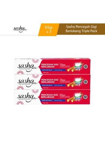 SASHA Sasha Pencegah Gigi Berlubang Tube 65gr Triple Pack E3738ES0B2D92BGS_1