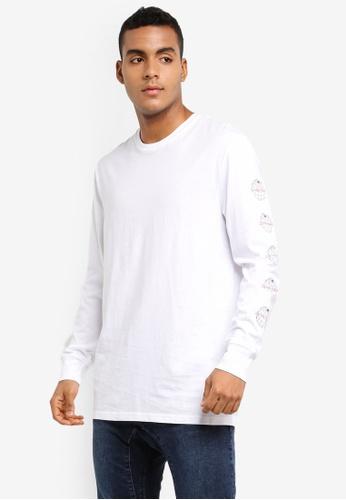 Cotton On 白色 長袖印花T恤 42B70AA610BFF4GS_1