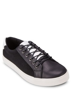 Tri Tone Mixed Material Sneakers