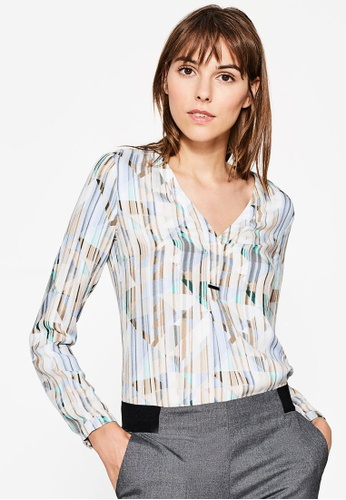 Esprit multi and beige Woven Long Sleeve Blouse ES374AA0ROSMMY_1