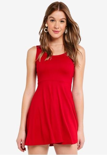ZALORA BASICS red Basic Fit and Flare Dress DB1F6AA13234F5GS_1