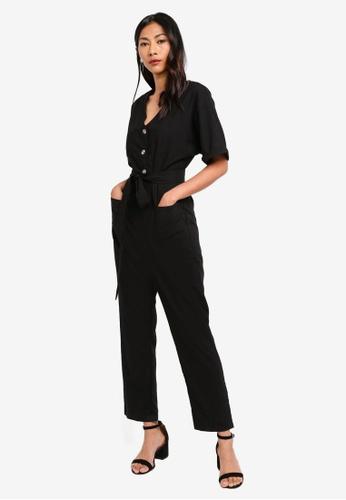 ff2dc61dc1c Buy ZALORA BASICS Basic Jumpsuit With Buttons Online on ZALORA Singapore