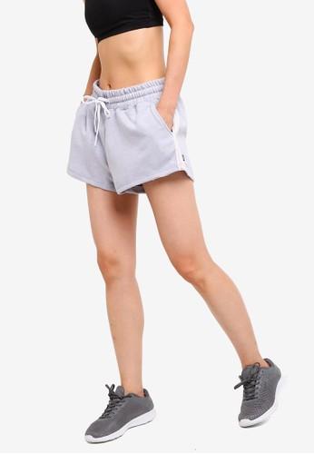 Cotton On Body grey Side Stripe Fleece Shorts EB9CCAADBD978FGS_1