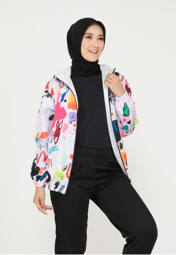 Mimamim pink Keinara All Over Print Jacket 6A139AA39E46BCGS_1