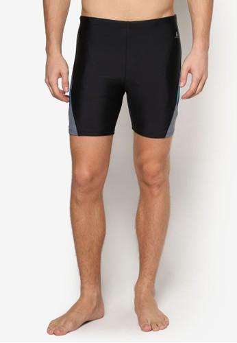 Bermudas 撞色拼塊泳褲, 服飾, 沙灘褲zalora 手錶 評價及泳裝短褲