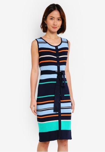 NAIN multi and navy Multi Stripe Knit Dress 59EF6AA937E084GS_1