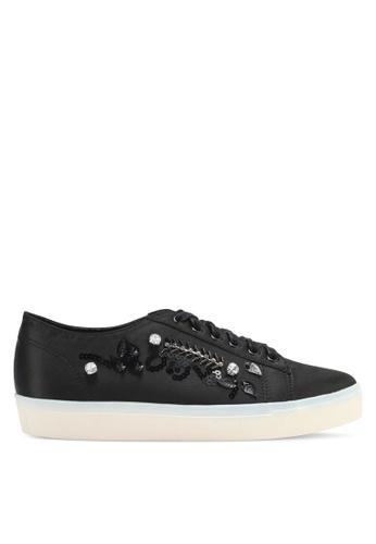 Something Borrowed black Embellished Sneakers 83459SHC13986EGS_1