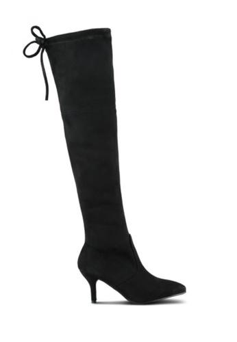 Twenty Eight Shoes black Skinny Over Knee High Heeled Boots 281-2 TW446SH2VFPNHK_1
