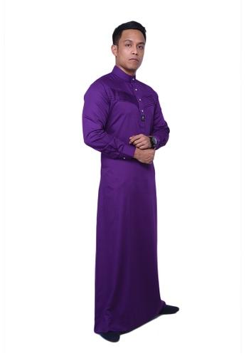 Buy Maribeli Butik MB Man Jubah Qhalees 04 Dark Violet Purple Online | ZALORA Malaysia