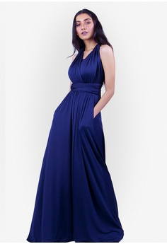 5a32b6777e JULY blue Severine Convertible Bridesmaids Dinner Dress in Navy Blue  CF637AA1720BE1GS 1