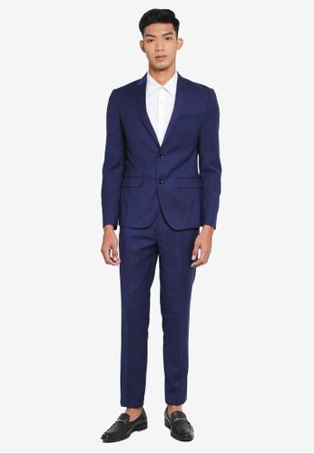 OVS blue Formal Blazer 9907CAA9BC05E2GS_1