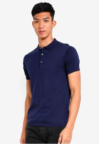 Jack & Jones 藍色 短袖針織POLO衫 9FC2BAAB04880BGS_1