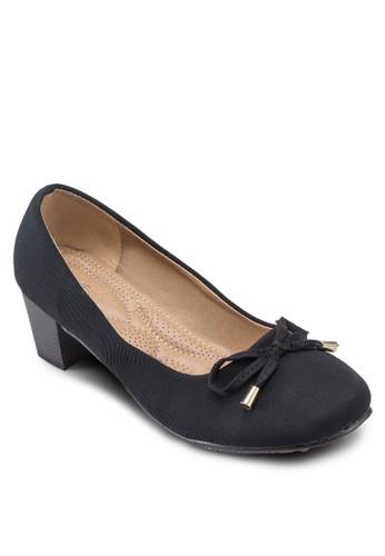 Covet 方頭粗跟蝴蝶結中跟鞋, 女鞋, esprit地址厚底高跟鞋