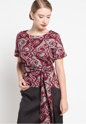 bhatara batik red Nadine BH237AA56UMLID_1