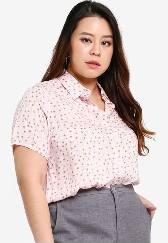 Ex'otico pink Short Sleeve Blouse D2C5EAAB434D13GS_1