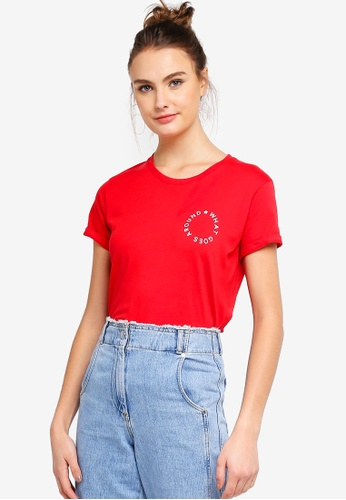 Cotton On red Tbar Fox Graphic Tshirt BCBF7AAB970A94GS_1