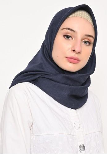 My Daily Hijab navy Hijab Segi 4 Voal Zaffron Dandelion Navy (Hijab Only) B8B81AACA509D4GS_1