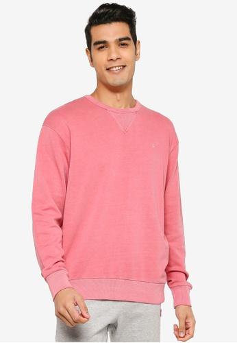 Jack & Jones pink JJEWASHED SWEAT CREW NECK 998F8AA142B2E1GS_1